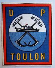 DIRECTION DU PORT DE TOULON ORIGINAL FRENCH NAVY PATCH 1960 IMPRIME