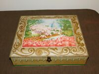 "VINTAGE 12 1/2"" X 11"" WASHINGTON DC CAPITOL CHERRY SUNSHINE BISCUITS TIN *EMPTY*"