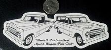 "2 Powell Sport Wagon Truck & Station Wagon Window Sticker 2"" x 6"" $10 1 Magnet"