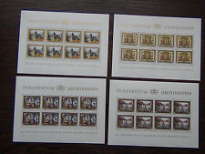 Liechtenstein 1978 Royal Residence in complete sheets of 8 MNH