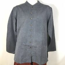 Traditional Indian Mens Summer Shirt Light weight Cotton GRAY