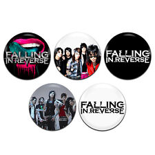 5x Falling In Reverse Band Rock Emo Goth Metal 25mm / 1 Inch D Pin Button Badges
