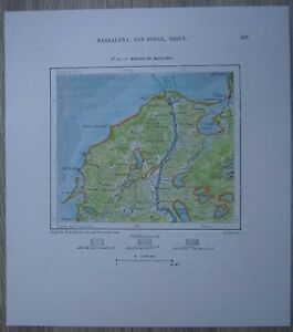 1893 Perron map: Mouth of Magdalena River, Colombia (#52)