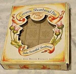 Brown Bag Cooking Art Snowflake Ceramic Shortbread Mold New In Box
