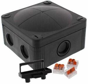 Wiska Combi 407 BK 221-413 Weatherproof Junction Box + Wago connectors 10109673