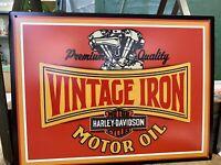 Vintage Iron Harley Davidson Metal Sign 13 X 10