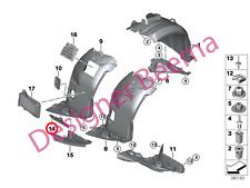 BMW 3' serie E90 E91 E92 E93 Rueda DEFLECTOR Labio de presión de arco (frontal izquierdo)