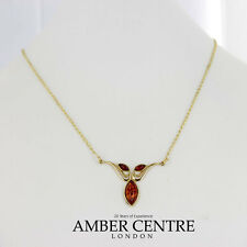 Italian Made Elegant Baltic Amber Necklace in 9ct Gold-GN0064 RRP£295!!!