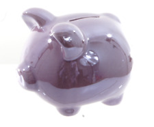 NEW CHILDREN'S PURPLE PIGGY BANK MONEY BOX
