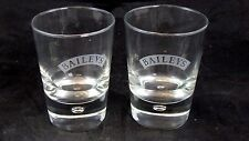 (2) Bailey's Irish Cream Etched Rocks Glasses with Controlled Bubble Base
