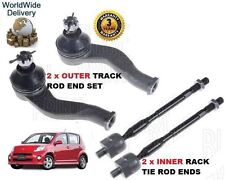 FOR DAIHATSU SIRION 1.5 2005 >NEW 2x OUTER & 2x INNER TRACK TIE RACK ROD END