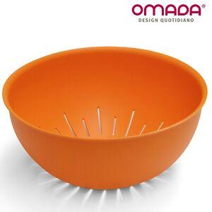 Scolapasta in Plastica Antibatterica per Verdure, Pasta, Sanaliving Omada Design