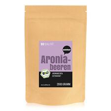13,45€/kg Wohltuer Bio Aronia Beeren Aroniabeeren getrocknet Vitamine 2000g