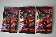 Lot of 3 Disney Cars 3 Mini Racers •Florida Ram• Fabulous McQ• Dinoco Cruz