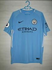 MANCHESTER CITY 2017-18 HOME SHIRT NIKE JERSEY SOCCER SIZE L