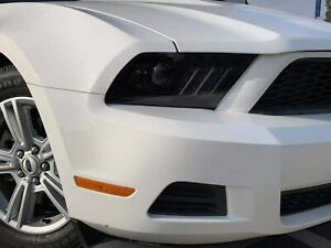 AlphaRex Pro Jet Black Projector Headlights for 2010-2012 Ford Mustang w/o HID