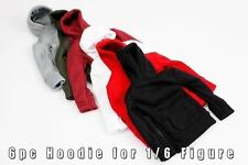 mcs0122 6 pc Fashion Hoodie Set for 1/6 Figure (Black,Red,White,Grey,Green,Rose)