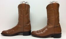 VTG WOMENS JUSTIN WESTERN ROPER LEATHER BROWN BOOTS SIZE 5.5 B