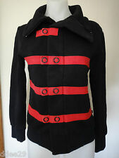 Francisconor Ravetto Ladies Black & Red Detailed Jacket Size 2 Made in Italy