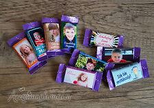 20x Gastgeschenke Milka Naps Einschulung Schulanfang Schokolade Wunschtext Foto