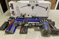 Dyson V6 Fluffy Cordless Vacuum Cleaner - Blue - Condition used -some new parts