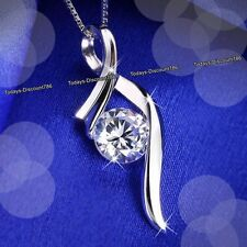 BLACK FRIDAY DEALS Crystal Diamond Silver Necklace Women Xmas Gift For Her Women