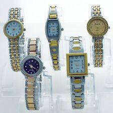 5PCS Mixed Bulk Fashion Ladies Women's Watches Bracelet WristWatch As ShownJBT1F