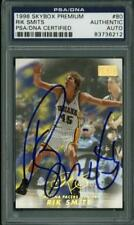Pacers Rik Smits  Authentic Signed Card 1998 Skybox Premium #80 PSA/DNA Slabbed