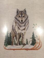 Designs for the Needle Wolf Loup 5211 Counted Cross Stitch Kit 8x10 Leisure Arts