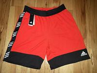 Mens Adidas Red/Black Basketball PM Shorts Athletic New NWT Size 2XL $40