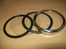 Smiths Magnetic Speedo/Revcounter replacement Bezel/Glass/seals Kit Triumph/BSA