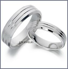 10k white gold matching his hers wedding bands rings mens womens set - White Gold Wedding Ring