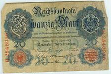 Banknote Deutsches Reich 20 Mark 1910 Ro.40b