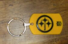 Black & Gold Pittsburgh Steelers NFL Football Logo Rubber Key Ring Chain