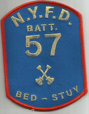 "New York City - Battalion 57  ""Bed-Stuy"" (3.5"" x 4.75"" size) fire patch"