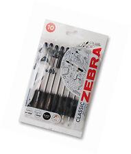 Zebra Z-Grip Ballpoint Pen - Black (Pack of 10)(01951)