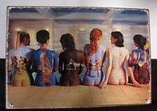 New PINK FLOYD BACK ART Metal TIN SIGN Unique Hippie Nude painted Ladies
