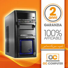 PC DESKTOP COMPUTER FISSO ASSEMBLATO INTEL QUAD CORE RAM 16GB HD1TB DVD/WIFI
