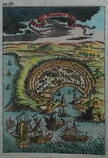 Rhodos - Rhodes - Ansicht von Alain Manesson Mallet - Original von 1720