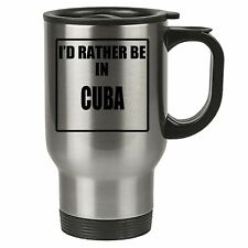 Travel Mug - Id Rather Be In Corfu - Stainless Steel Thermal - Reusable Cup Coff