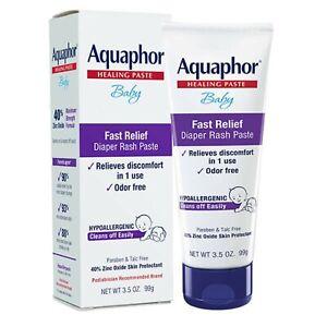 Aquaphor Baby Diaper Rash Paste, Maximum Strength 40% Zinc Oxide, 3.5 oz +