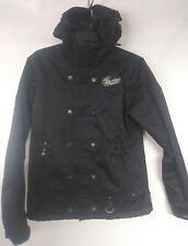 Burton Helsinki Fitted Hooded Ski Snowboard Jacket Coat Size Medium Black