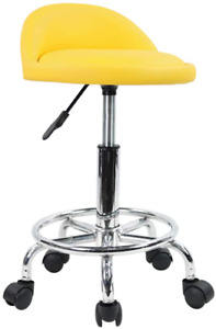 Small Adjustable Work Shop Stool Tractor Seat Bench Swivel Desk Chair Rolling
