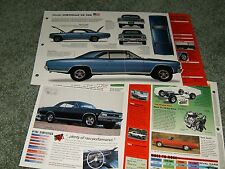 1966 CHEVY CHEVELLE SS 396 SPEC INFO POSTER BROCHURE SS396 66