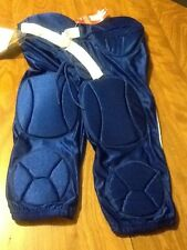 Youth 7 pad solo integrated football pants, r blue large, nwt, alleson athletics