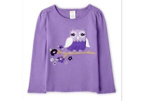 NEW GYMBOREE GIRLS OWL LONG SLEEVE TOP WHOO'S CUTE SIZE 8