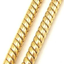 """24""""3mm37g REAL 18K YELLOW GOLD GP NECKLACE ROUND SOLID FILL GEP SNAKE CHAIN vp3"""