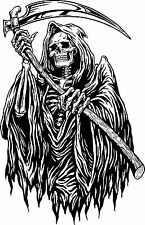 Grim Reaper Monster Zombie Death Scythe Truck Window Wall Vinyl Decal Sticker