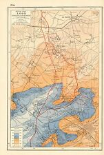 1920 MAP WORLD WAR 1- WESTERN FRONT-LOOS & HOHENZOLLERN REDOUBT