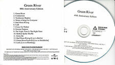 CREEDENCE CLEARWATER REVIVAL Green River 40th UK 14-trk numbered promo test CD